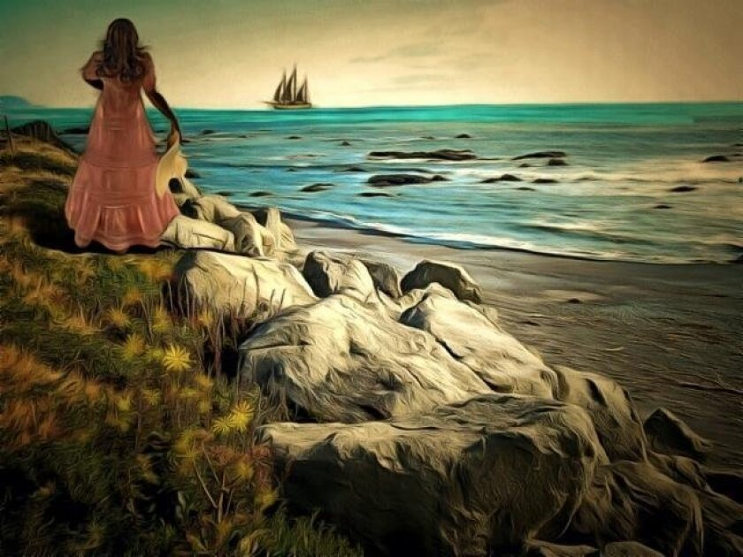 La Jolla Art Association's 98th anniversary art auction and fundraiser includes more than 60 works, including 'Lost Coast' by Patricia Hartman.