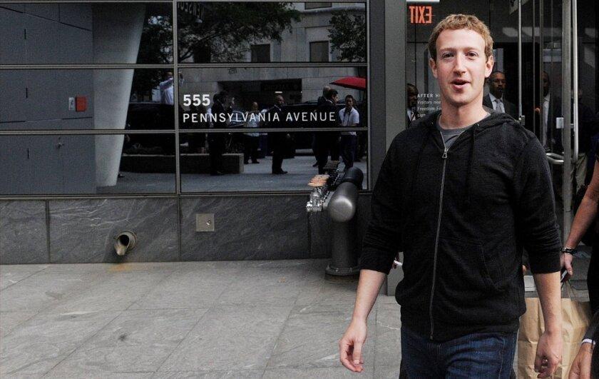 Mark Zuckerberg in Washington
