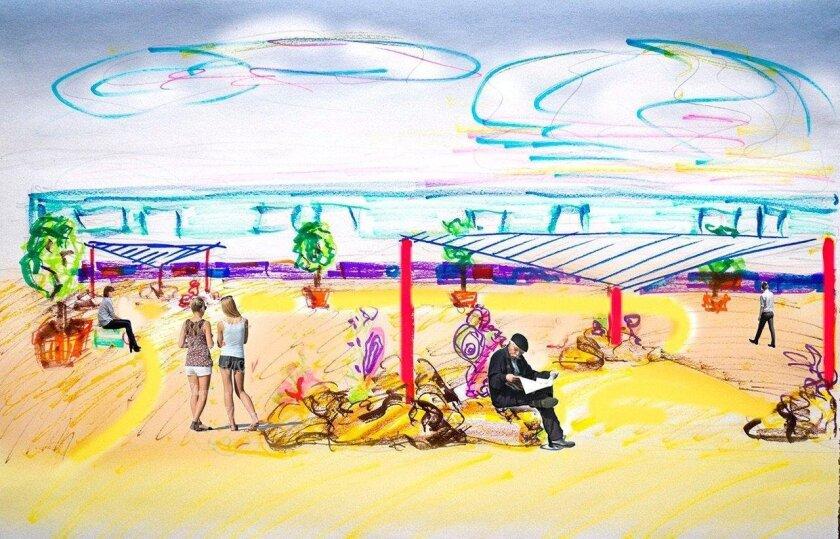 Imperial Beach pocket park rendering