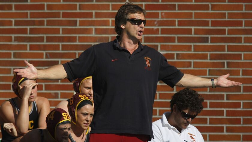 USC water polo coach Jovan Vavic, shown in 2012, was fired Tuesday.