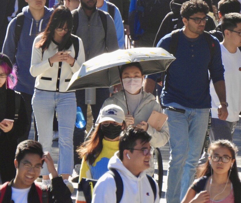 Despite a decline in the number of foreign students, UC San Diego's overall enrollment increased in fall 2020.