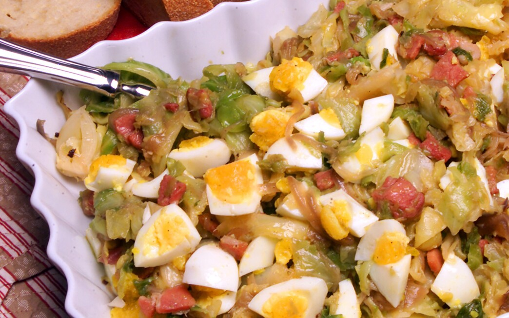 Warm cabbage salad