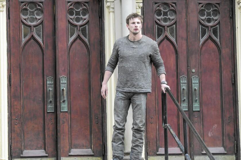 "Bradley James in the A&E drama series ""Damien."""