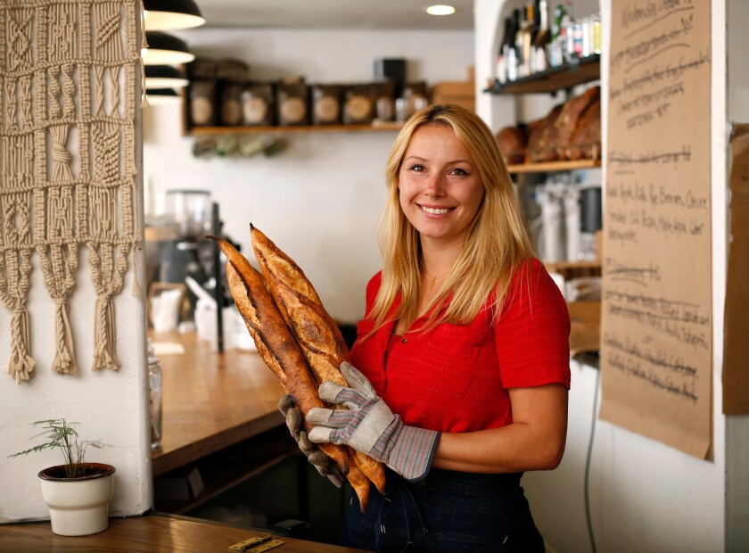A photo of Chef Crystal White of Wayfarer Bread & Pastry in La Jolla on Oct. 16, 2019.