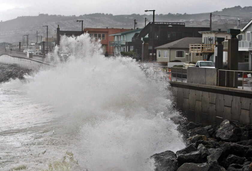 Rising sea levels from climate change
