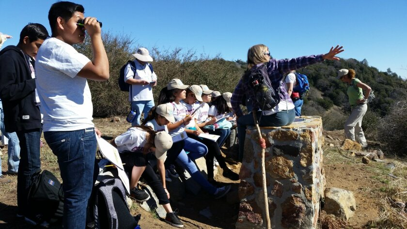 Students with the San Dieguito River Valley Conservancy's Explorers Program which receives funding from the The San Diego Foundation.