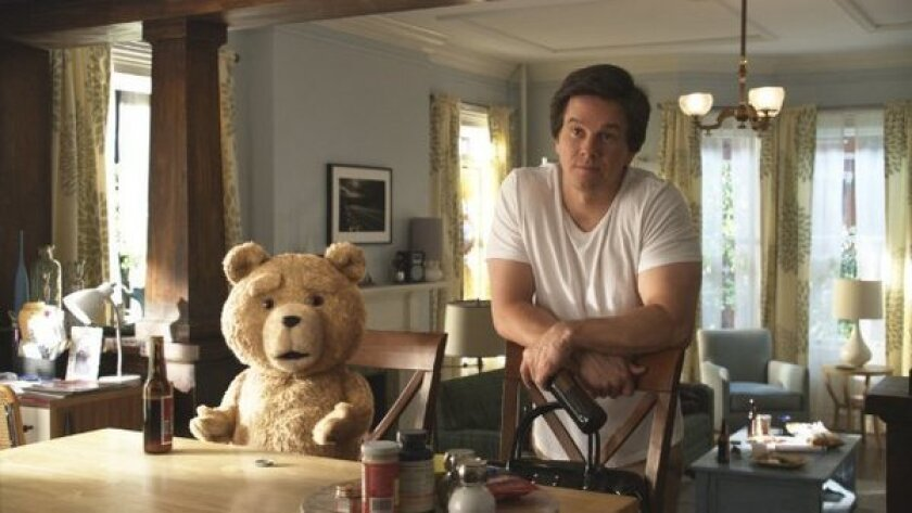"""Mark Wahlberg stars as a man whose best friend is a teddy bear (voiced by Seth MacFarlane) in """"Ted."""""""