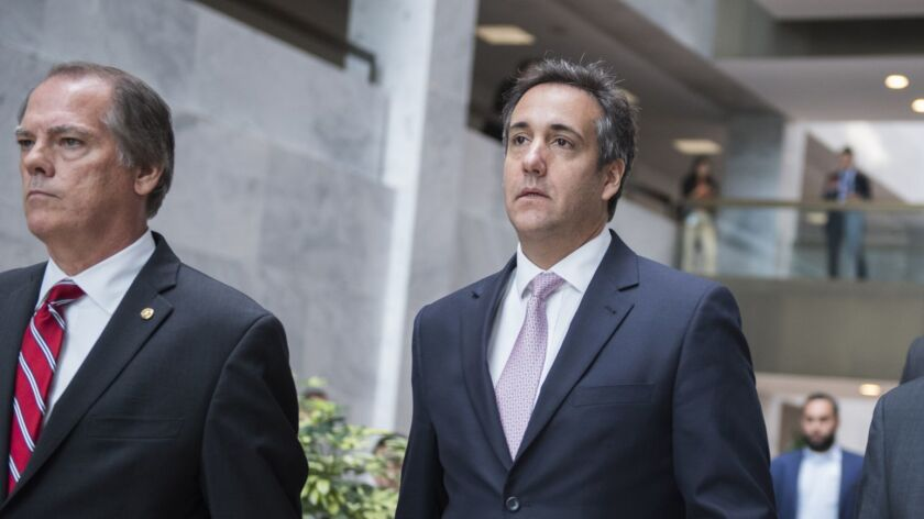 Michael Cohen, right, a personal attorney for President Trump, in Washington in 2017.