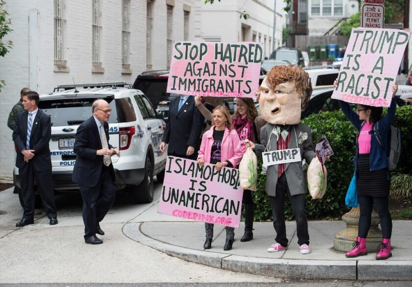 Anti-Donald Trump protest in Washington