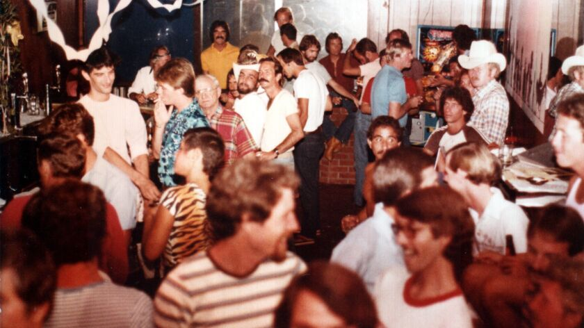 """In this photo from the 1970s, patrons party at the Matador in Pacific Beach, one of the now-defunct venues featured in """"San Diego's Gay Bar History,"""" a new documentary airing on KPBS-TV."""