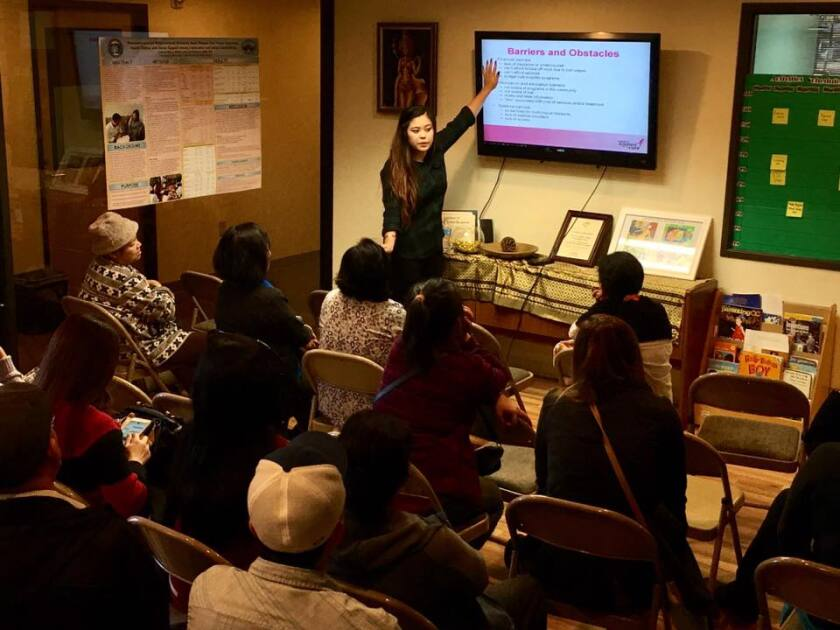 Cindy Sicheang Phou of the Cambodian Family Community Center.