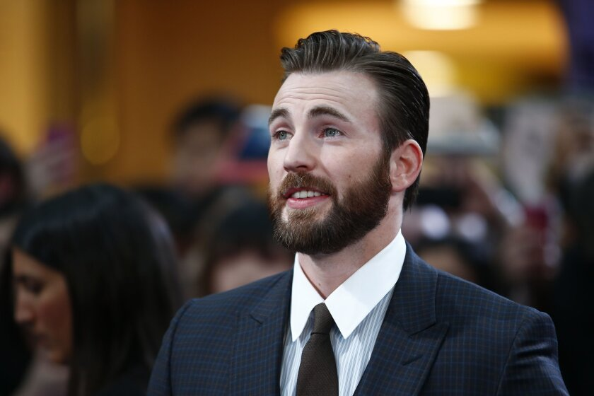 """Chris Evans on the red carpet for the European premiere of """"Avengers: Age of Ultron."""""""
