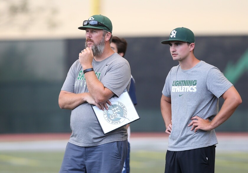 Sage Hill head coach BJ Crabtree looks forward to upcoming season.