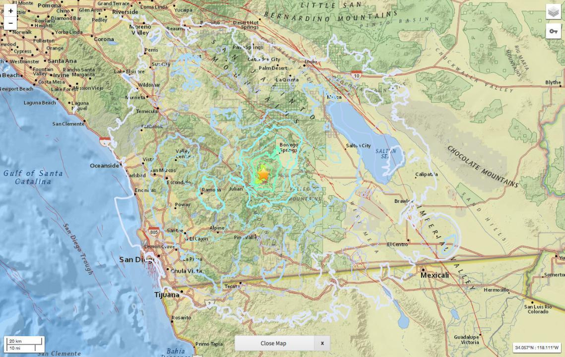 Odd series of small earthquakes jostle Julian area - The San Diego