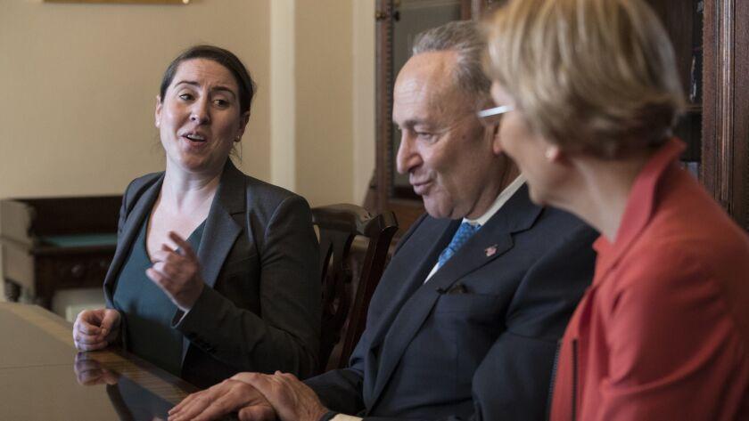Chuck Schumer, Elizabeth Warren, Leandra English