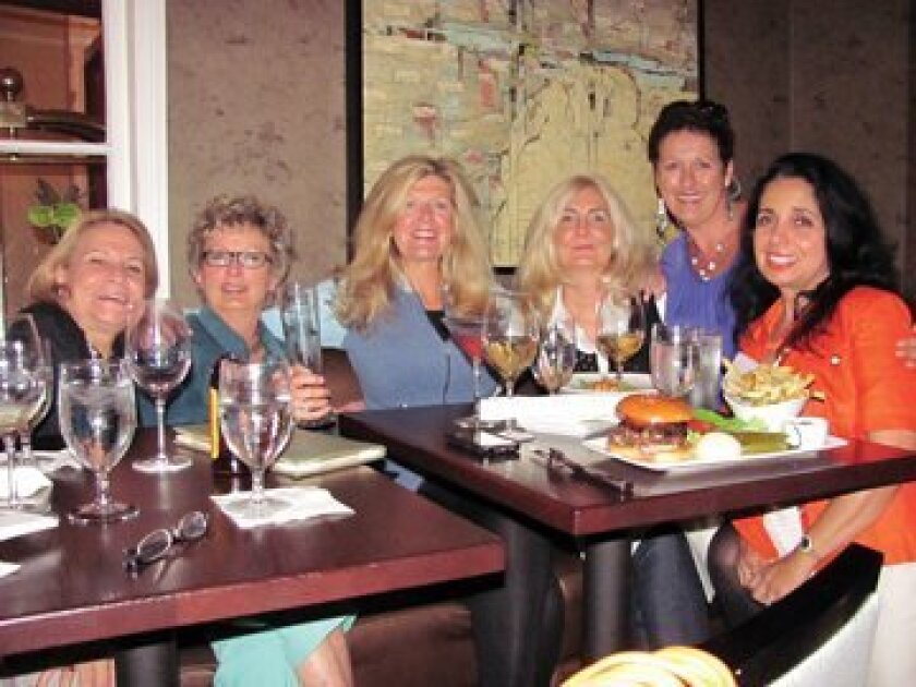 Lizette Gibson, Marilyn Olson, Julie Fish, Fran Artale, 'Scottish' Sue Stevenson and Lia Johnson are part of the Girls Night Out group that attracts some 8 to 12 friends each week who meet for girl talk at restaurants around town. Photo: Susan DeMaggio