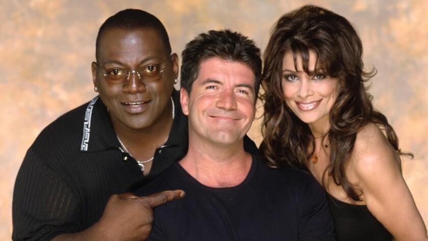 "Original ""American Idol"" judges Randy Jackson, left, Simon Cowell and Paula Abdul."