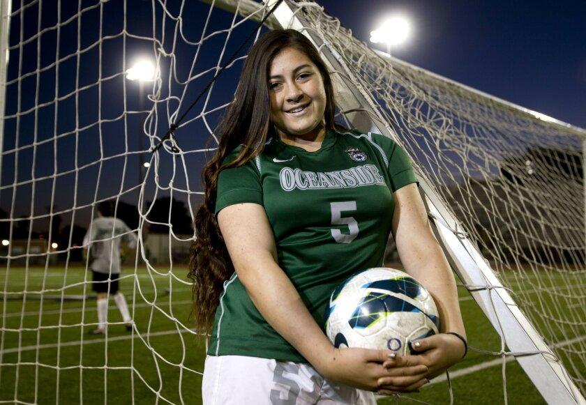 Oceanside senior Ciara Gutierrez has found new joy in soccer.
