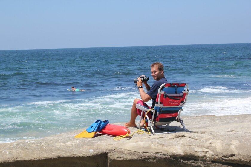 This lifeguard lives in La Jolla above The Cove, in a house he shares with his brother and some friends.