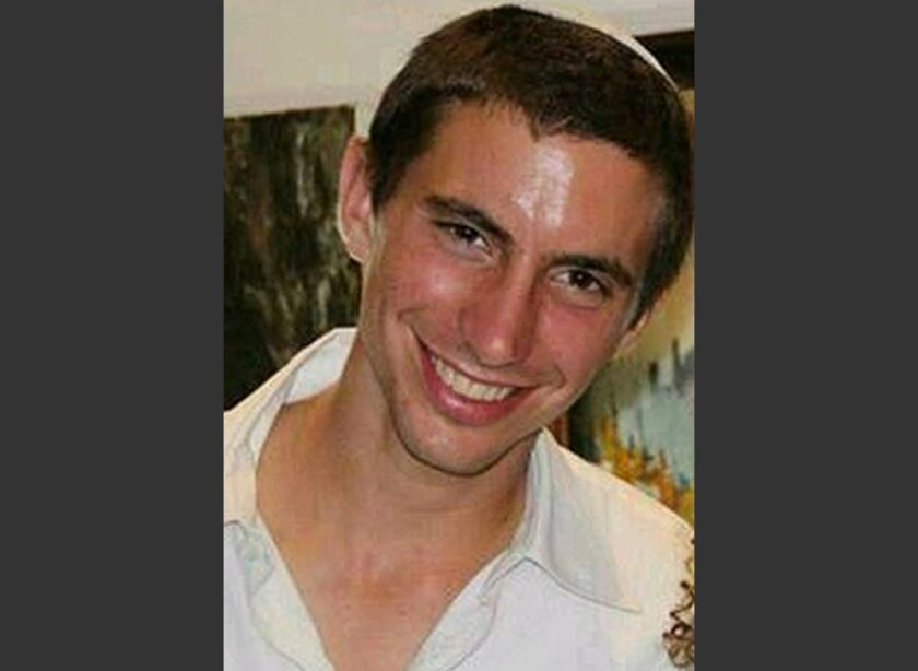 This undated photo shows Israeli Army 2nd. Lt. Hadar Goldin, 23 from Kfar Saba, central Israel. Israeli army spokesman Lt. Col. Peter Lerner said Friday, Aug. 1, 2014 that Goldin was apparently captured by Hamas militants who came through a tunnel from the Gaza Strip and another two soldiers were k