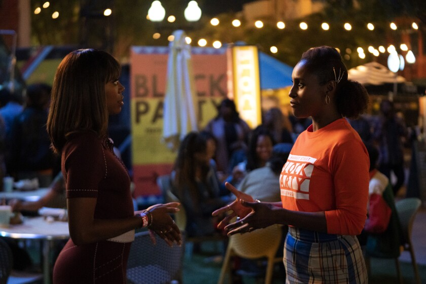 """Yvonne Orji and Issa Rae in HBO's """"Insecure."""""""