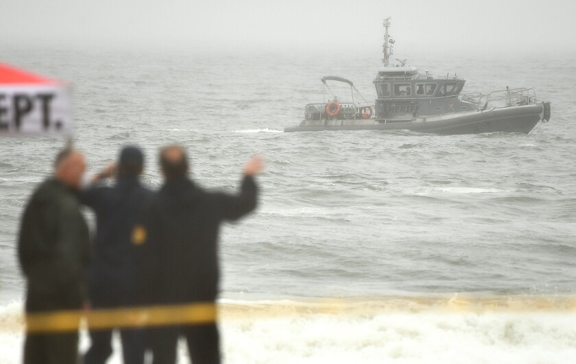 The search continues for a missing swimmer off Venice Beach.