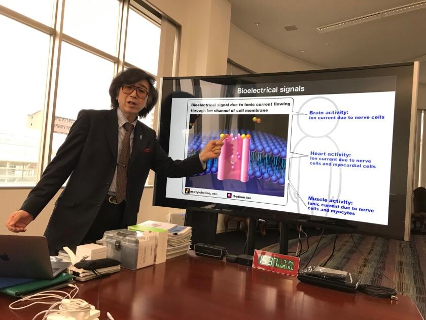 Yoshiyuki Sankai, president and chief executive of Cyberdyne Inc., at the company's headquarters in Tsukuba, Japan.