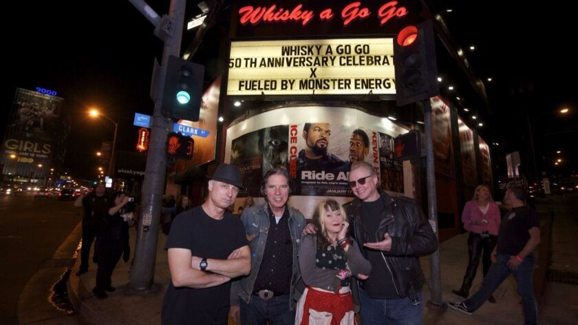 The members of X, which performs Sunday at Wonderfest, are (from left) drummer D.J. Bonebrake, singer-bassist John Doe, singer Exene Cervenka and guitarist Billy Zoom.
