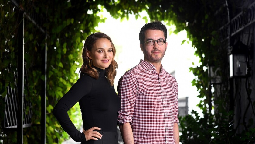 WEST HOLLYWOOD-CA-JUNE 4, 2018: Natalie Portman, left, and Jonathan Safran Foer are photographed in