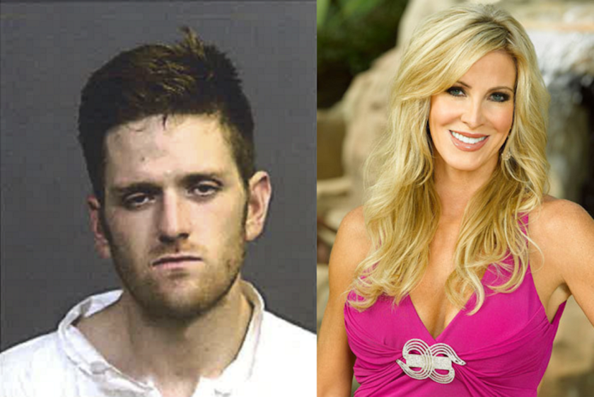 """Joshua Waring, the son of former """"Real Housewives of Orange County"""" star Lauri Peterson, was charged with three counts of attempted murder in connection with a shooting Monday in Costa Mesa."""