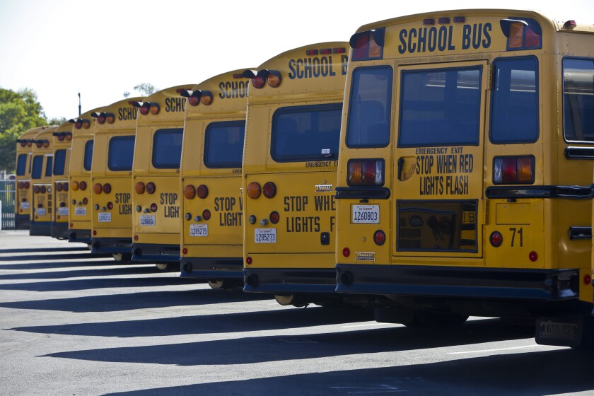 The Oceanside Unified School District  school bus fleet.