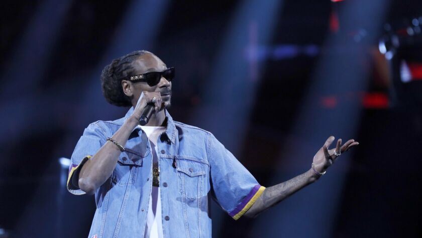 LOS ANGELES, CALIF. - FEB. 17, 2018. Rapper Snoop Dogg makes an appearance at the 2018 NBA All-Star