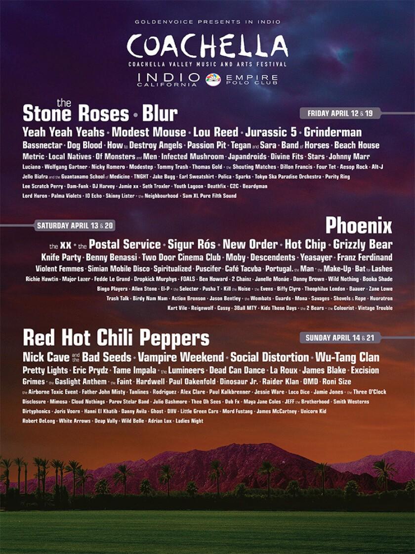 The 2013 Coachella poster.