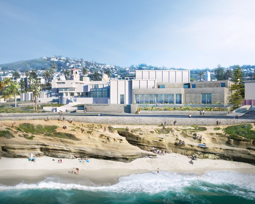 A rendering of the new Museum of Contemporary Art San Diego's renovation in La Jolla.