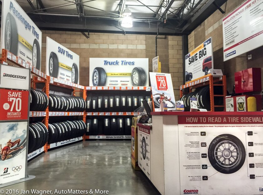 Well stocked Costco Tire Center