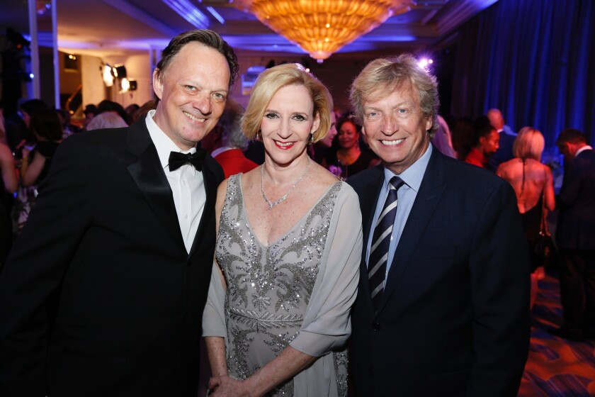 """From left, Los Angeles Ballet artistic directors Thordal Christensen and Colleen Neary and """"So You T"""