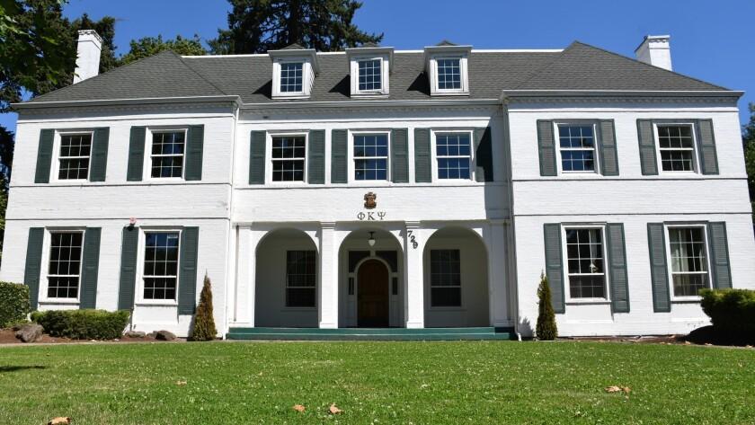 Frat house still stands