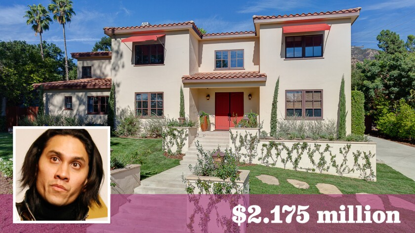 Taboo of the Black Eyed Peas has listed his home with a recording studio for sale in Altadena at $2.175 million.