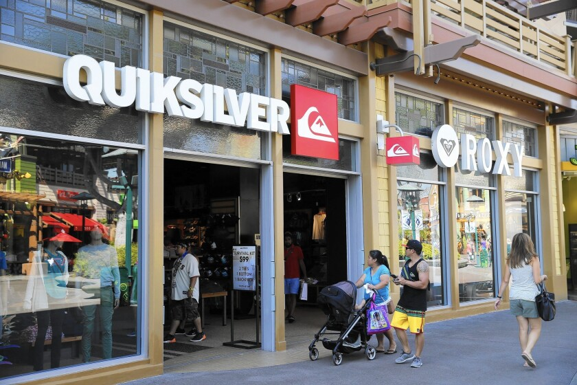 Quiksilver files for bankruptcy in U S