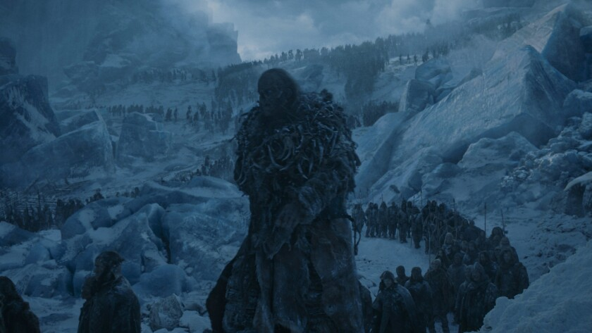 """The undead army in the """"Game of Thrones"""" episode """"The Dragon and the Wolf."""""""