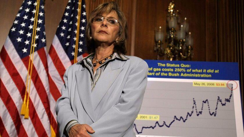 WASHINGTON - JUNE 05: U.S. Sen. Barbara Boxer (D-CA) listens during a news conference June 5, 2008