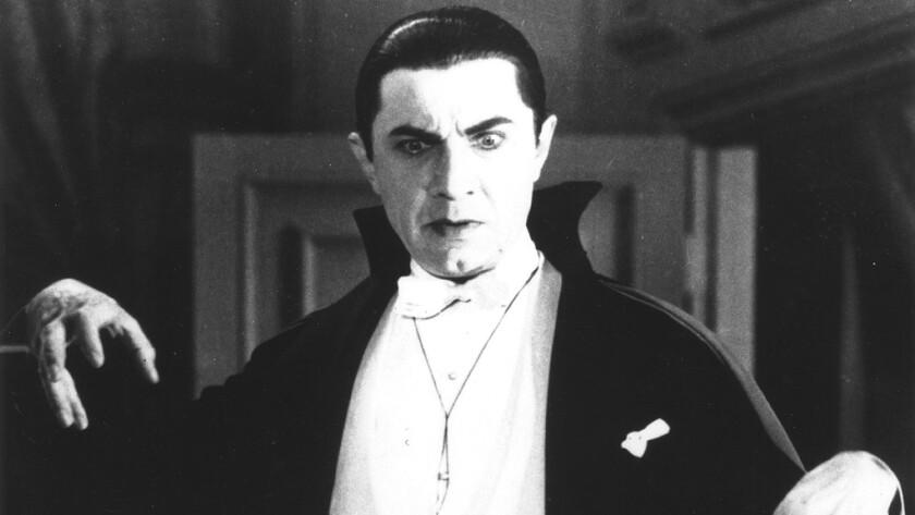 "Bela Lugosi plays Count Dracula in the 1931 Universal movie classic ""Dracula."""