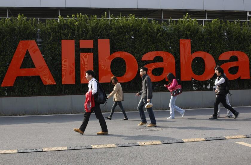 The Alibaba Group headquarters of in Hangzhou, in eastern China's Zhejiang province.