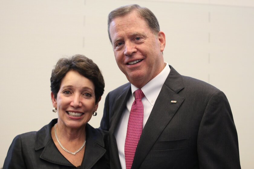 District attorney candidate Bob Brewer with his wife, retired federal Judge Irma Gonzalez.