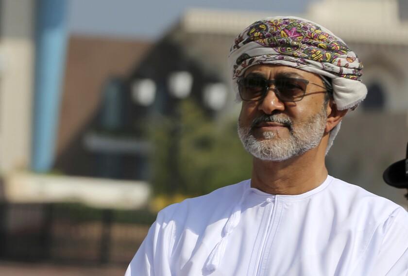 Oman's new sultan, Haitham bin Tariq Al Said, seen in 2016.