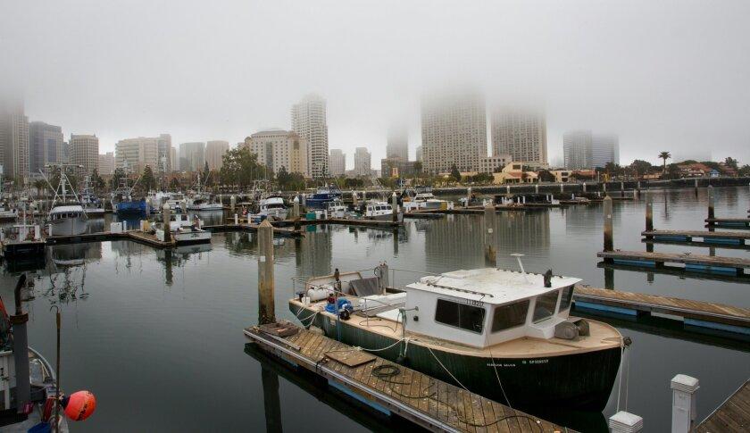Downtown San Diego Fog