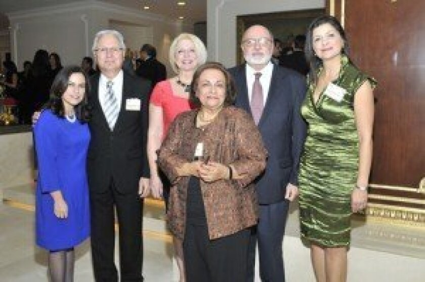 At the Feb. 8 event: IASF board members Sarah Aghassi, Majid Zarrinkelk, Susan Missaghieh Motlagh, Shahri Estakhry, Ali Gheissari, Gita Khadiri. Photo/McKenzie Images