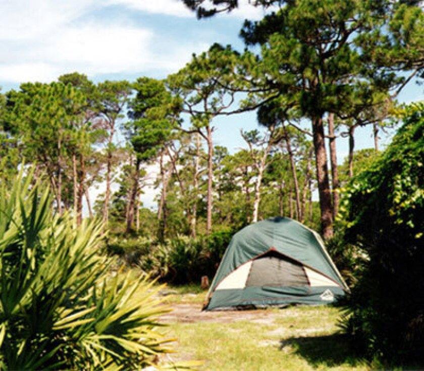 A campsite at Jonathan Dickinson State Park near Jupiter.