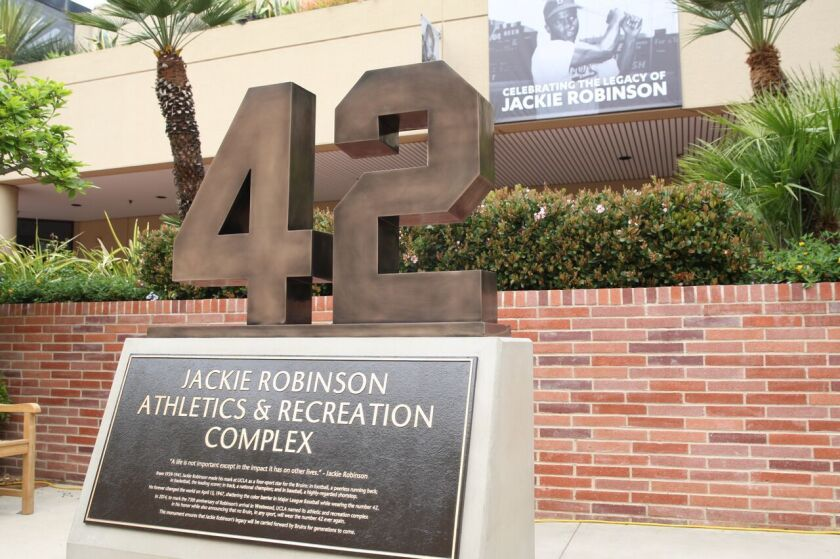 UCLA unveiled a monument to Jackie Robinson on Saturday, March 5.