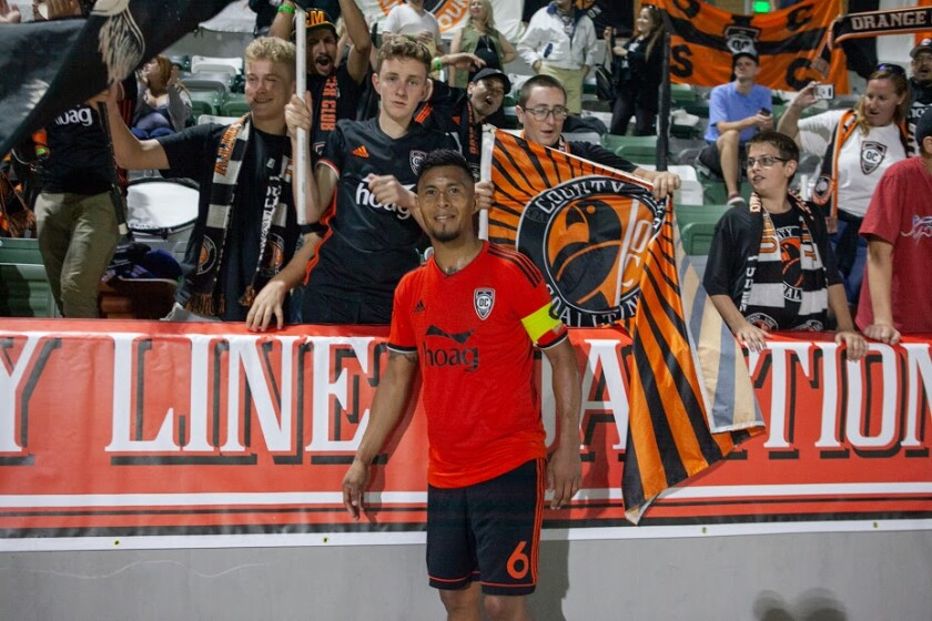 Orange County SC captain Michael Orozco grew up in Anaheim before pursuing a professional soccer career.